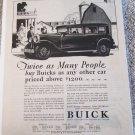1929 Buick 4 dr sedan Twice As Many People car ad