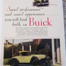 1929 Buick Roadster Smart Performance car ad