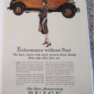 1929 Buick 3 Window Coupe Performance car ad