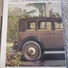 1929 Buick 4 dr sedan Make Performance car ad