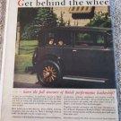 1929 Buick 2 dr sedan Get Behind The Wheel car ad #2