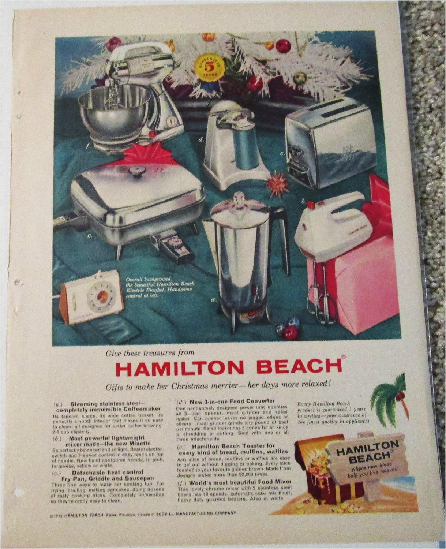 1959 Hamilton Beach Appliances Christmas ad