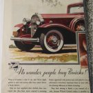 1933 Buick 4 dr sedan No Wonder car ad