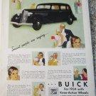 1934 Buick 4 dr sedan Smart People car ad
