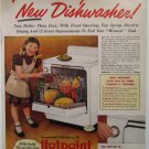 1949 Hotpoint Dishwasher ad