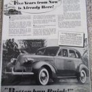 1939 Buick 4 dr sedan Five Years From Now car ad