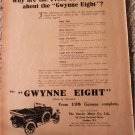 1923 Gwynne Eight Roadster car ad