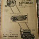 1923 Hotchkiss Touring car ad