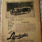 1923 Lanchester Touring car ad