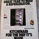 1987 KitchenAid Refrigerator ad