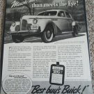1940 Buick Super 4 dr sedan Much More car ad