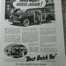 1941 Buick Station Wagon car ad