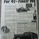 1941 Buick Special 4 door sedan For 41 car ad