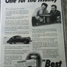 1941 Buick Special 4 door sedan One For The Money car ad