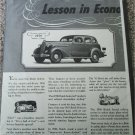 1941 Buick Special 4 door sedan Lesson car ad