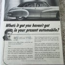 1942 Buick 4 dr sedan car ad