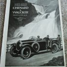 1925 Chenard & Walker Touring car ad