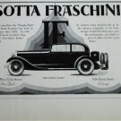 1929 Isotta Fraschini 2 dr sedan car ad