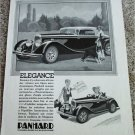 1934 Panhard Coupe car ad