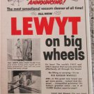 1955 Lewt On Big Wheels Vacuum Cleaner ad