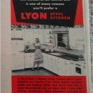 1954 Lyon Steel Kitchens ad
