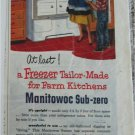 1952 Manitowoc Sub-Zero Freezer ad
