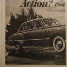 1949 Buick Super 4 dr sedan Action car ad