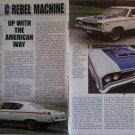 1970 American Motors Rebel Machine car article