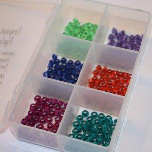 Eyelet kit with storage box - Tropical Colors - 300 eyelets