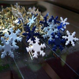 Winter Snowflake Brads