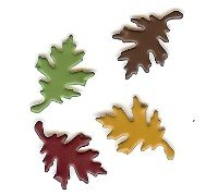 Colorful Oak Leaf Brads
