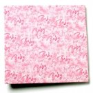 Post-bound 12x12 Scrapbook Album - Pink Baby Words