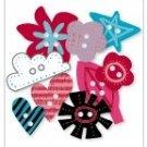 Roxie Chipboard Buttons - Love Elsie - KI Memories