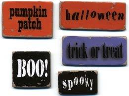 Chipboard Words - Halloween - Lil Davis