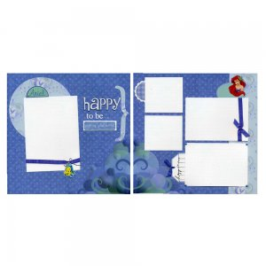 PreMade Scrapbook  Page Set - Ariel - Part of Your World