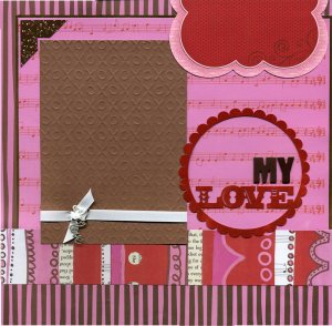 Premade Scrapbook Page - My Love