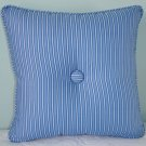 "RALPH LAUREN CUSTOM DRIVER STRIPE14""X14"" PILLOW WITH BUTTONS"