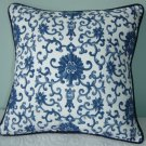 "RALPH LAUREN CUSTOM 16""X16"" PORCELAIN TOILE ACCENT PILLOW"
