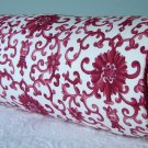 "RALPH LAUREN CUSTOM 16""X6"" PORCELAIN RED BOLSTER PILLOW"