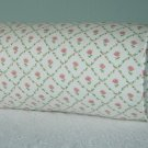 LAURA ASHLEY KATE PINK CUSTOM 14X6 BOLSTER PILLOW