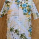 Waltah Clark Mens Vintage Hawaiian Aloha shirt SS M men's shirts