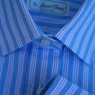 Womens blouse Striped Shirt Top Ascot Chang Large Top Blue white stripes