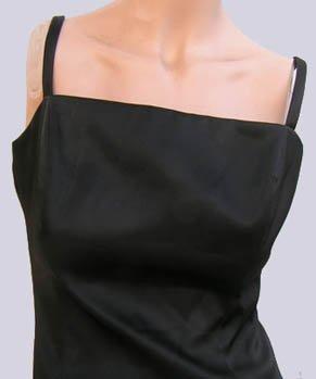 Womens Dress Dinner Cocktail Shelli Segal Sz 8 Thin straps Black Fringe