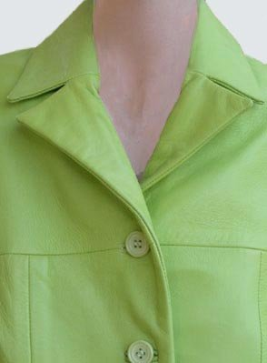 Womens Leather jacket Cache Womens Outerwear Apple green