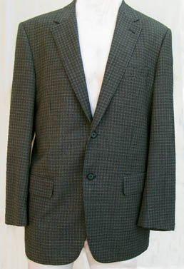 Zanella Mens blazer sportcoat 40 Black off white Single breasted 2 button  Sz 40