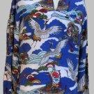 Vintage Hawaiian LS McInery Mens RARE Egret Crane