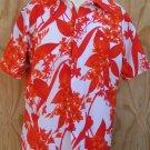 HAWAII NEI HONOLULU shirt Vintage Short sleeve shirt Vintage Bold reds  M