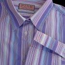 Womens SZ 16 Top Blouse Sz 16 Thomas Pink Shirt Striped French cuffs