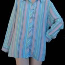 Natori top blouse XL Sleepwear Multi color stripes long