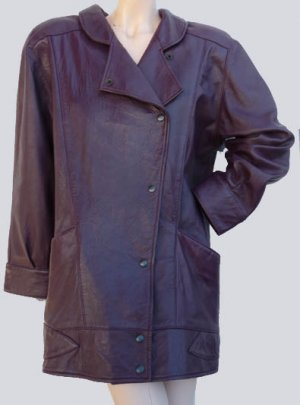 Vintage 90s leather jacket Michael Hoban North Beach 9 10 Coat
